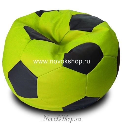 Кресло-мешок Футбол 100см, замша, экокожа